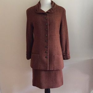 Vintage Chanel two-piece suit blazer and skirt